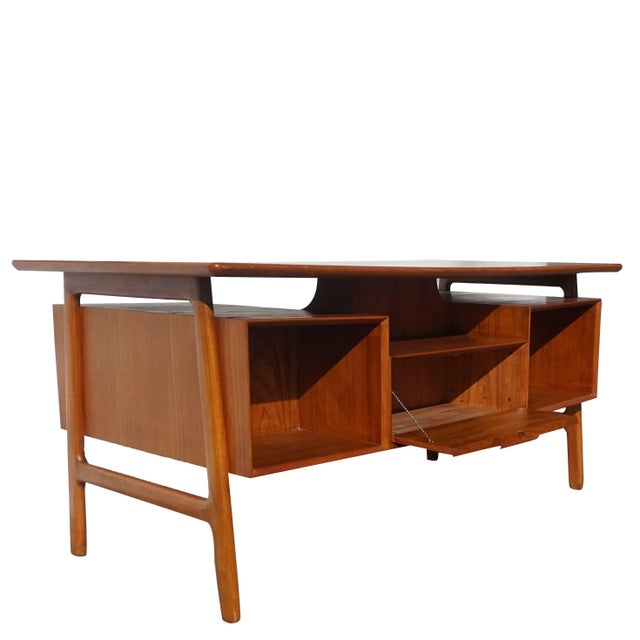 20th Century Scandinavian Gunni Omann Writing Desk For Sale In West Palm - Image 6 of 9