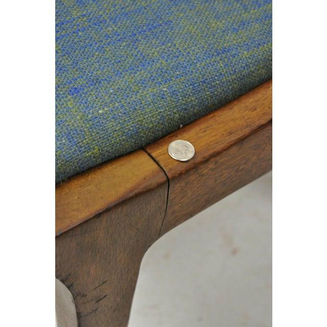 Drexel Dateline John Van Koert Walnut Mid Century Modern Dining Side Chair (A) For Sale In Philadelphia - Image 6 of 12
