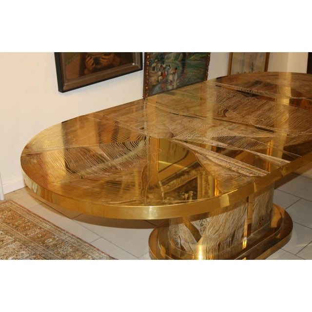 Signed Armand Jonckers Etched Bronze Dining Table For Sale In New York - Image 6 of 9