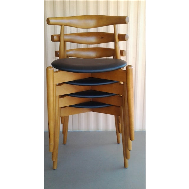 "Danish Modern 'Hans Wegner' ""Ch20"" Elbow Chairs - Set of 4 For Sale - Image 7 of 7"