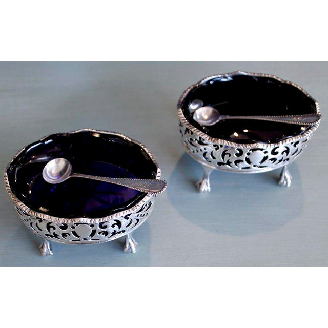 18th Century English George III Period Sterling Salt Cellars - A Pair - Image 8 of 11