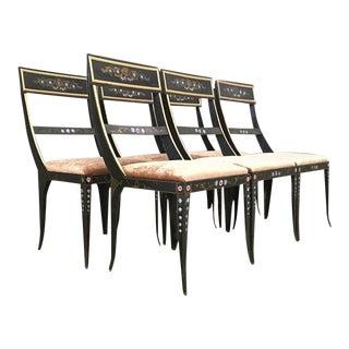 Vintage Early Regency Gustavian Bellman Chairs- Set of 6 For Sale