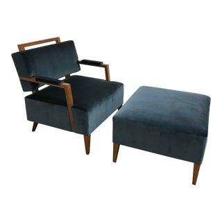 RJones Float Armchair and Ottoman For Sale