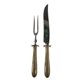 Towle Sterling Silver Carving Utensils - A Pair