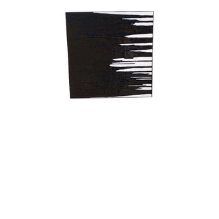 Contemporary Minimalist Black and White Acrylic Painting by Kelly Caldwell, Framed For Sale