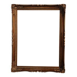 "57""h X 45"" Vintage French Provincial Gold Picture Frame For Sale"
