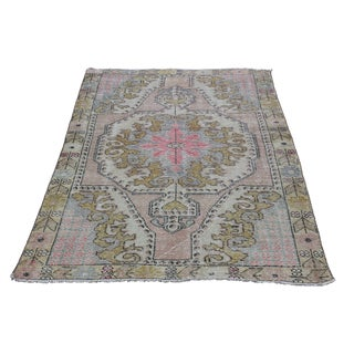 Vintage Hand Knotted Anatolian Carpet - 6' 7'' x 4' 1''