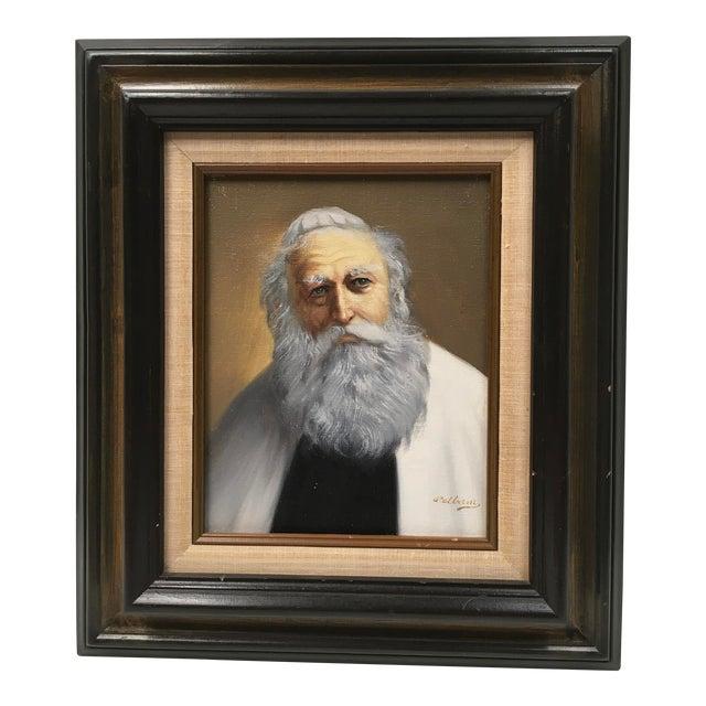 Pelbam Original Signed Oil Painting of Rabbi For Sale