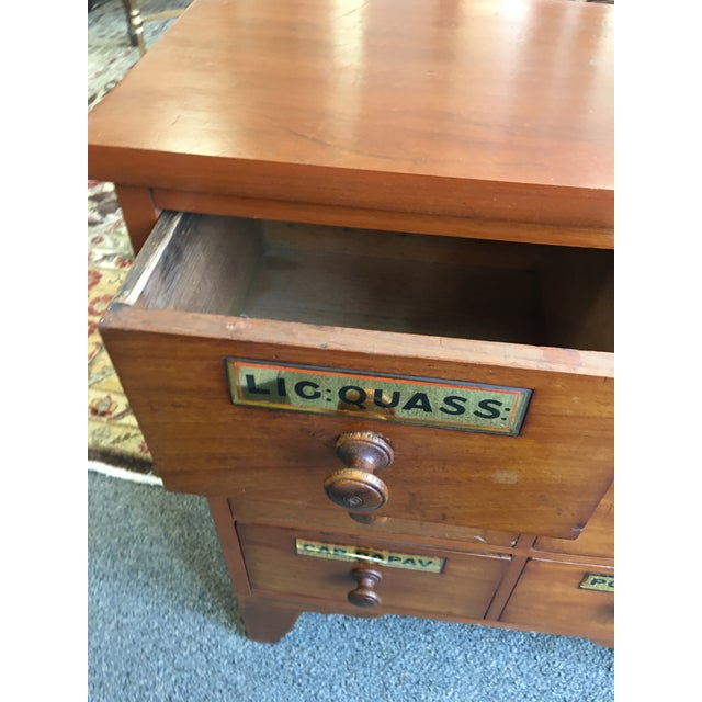 1900s Antique Cherry Apothecary Chests-a Pair For Sale - Image 4 of 9