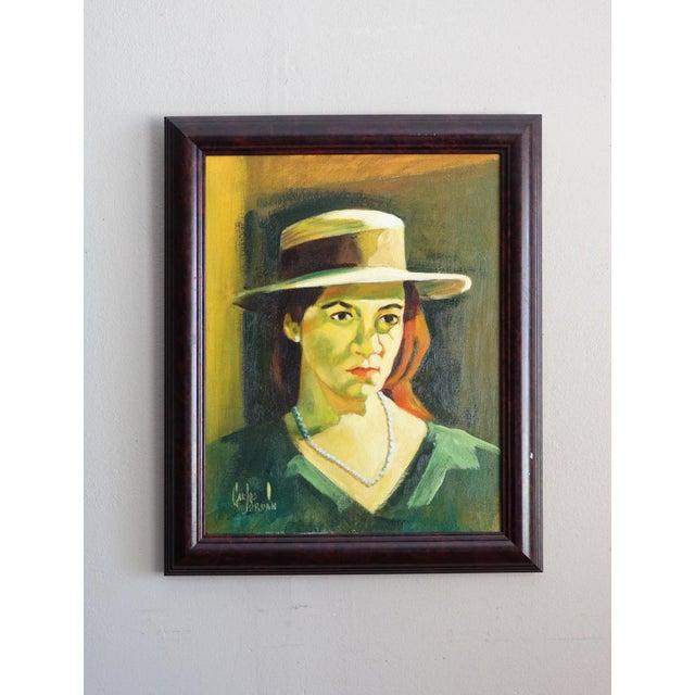 Carlos Jordan Vintage Portrait of a Woman - Image 2 of 5