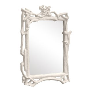Stray Dog Designs for Chairish Magalie Mirror, White For Sale