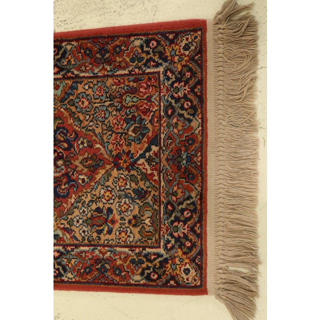 Item: F31763EC: KARASTAN MultiColor Kirman Throw Rug Approx. 2 x 5 Age: Approx: 35 Years Old Details: Bright & Vibrant...