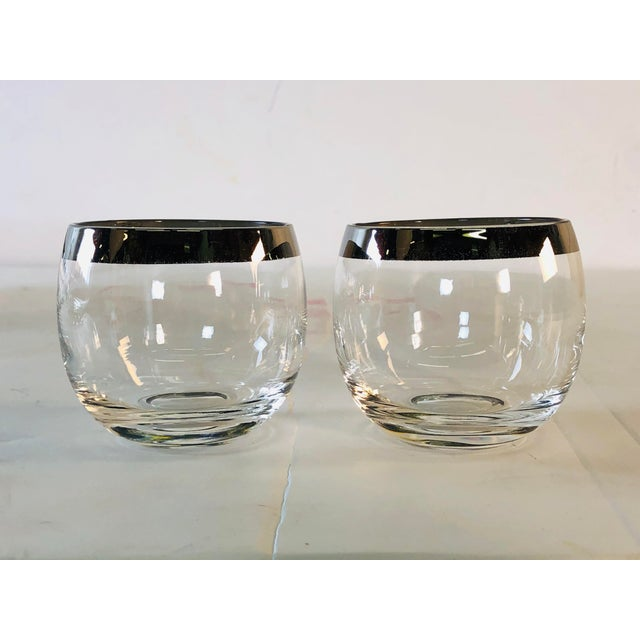 1960s Punch Bowl Set With Silver Rim Tumblers, Set of 9 For Sale In Boston - Image 6 of 9
