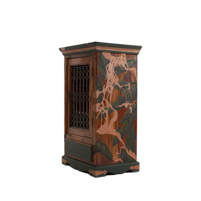 This timeless cabinet is hand-painted by Atelier MIRU. The piece is executed in solid wood and is painted in oil and...