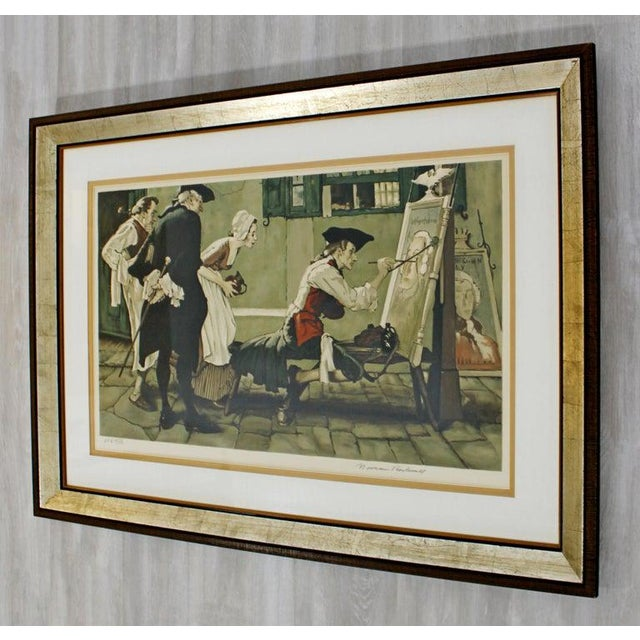 Norman Rockwell 20th Century Framed Modern Illustration A.P. Litho Signed Norman Rockwell, 1936 For Sale - Image 4 of 11