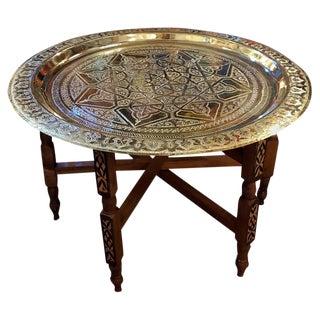 Moroccan Shinny Copper Coffee Table For Sale