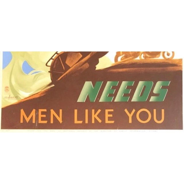 1940s 1940s Canadian Wwii Poster, Canada's New Army Needs Men Like You For Sale - Image 5 of 6
