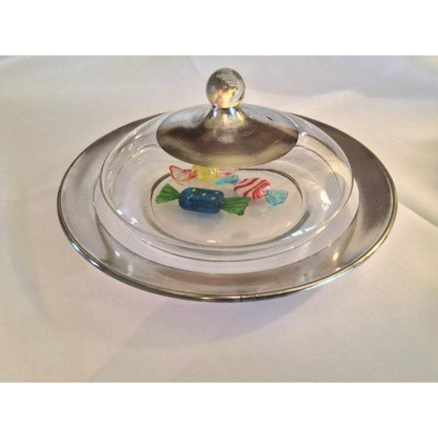 Silver Dorothy Thorpe Mid Century Candy Dish For Sale - Image 8 of 13