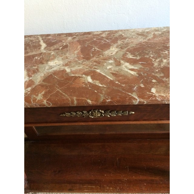 Ethan Allen Marble Top & Mirrored Console Table - Image 4 of 7