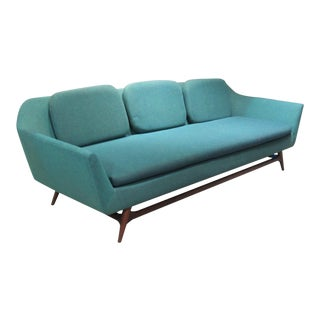 1950s Vintage Danish Modern Sofa For Sale