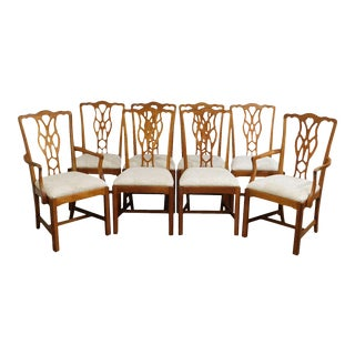 Harden Chippendale Style Solid Cherrywood Dining Chairs - Set of 8 For Sale