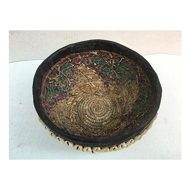 African Tribal Shell Basket For Sale - Image 4 of 6
