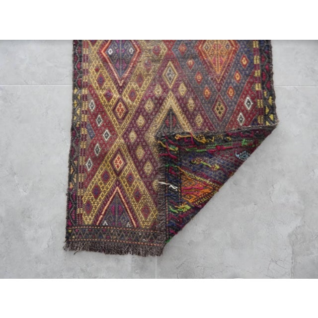 Textile Handwoven Anatolian Turkish Oushak Braided Kilim Rug For Sale - Image 7 of 8