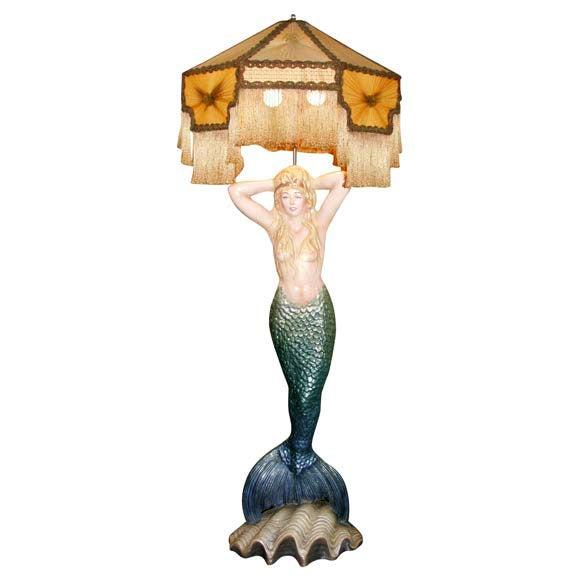 Mermaid Masthead Standing Lamp - Image 1 of 7