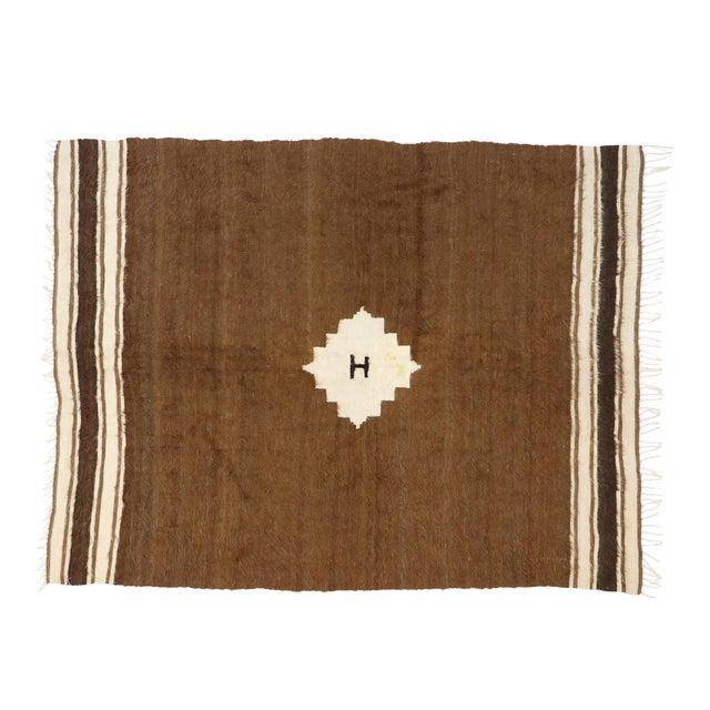 Vintage Turkish Kilim Rug, Square Flat-Weave Rug - 04'03 X 05'05 For Sale
