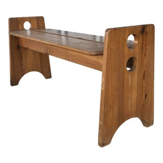 1970's Bench by Gilbert Marklund For Sale