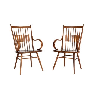 Mid Century Walnut Dining Chairs by Kipp Stewart - a Pair For Sale
