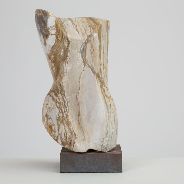 Abstract Torso Sculpture on Stone Mount For Sale - Image 12 of 12
