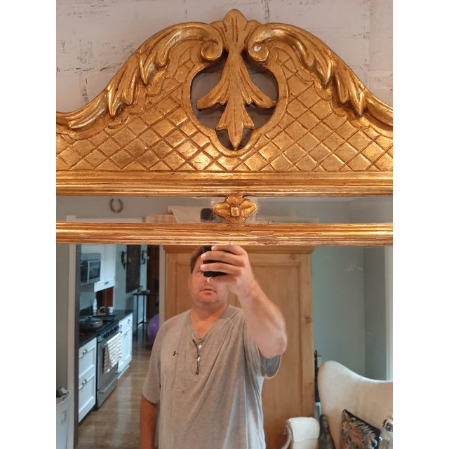 French Italian Florentine Gilt Wood Mirror For Sale - Image 3 of 10