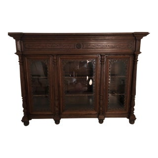 19th Century Traditional Oak Bookcase For Sale