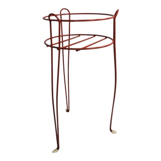 Late 20th Century Wrought Iron Plant Stand For Sale
