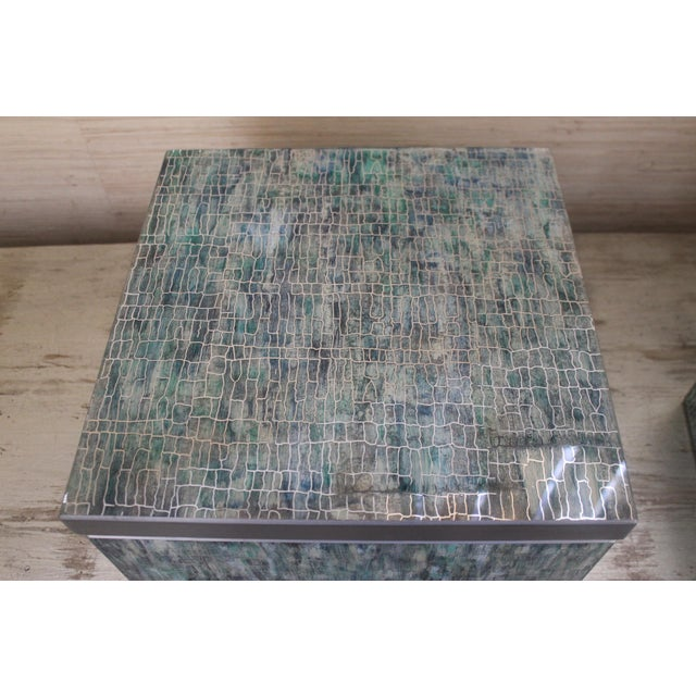 2010s Peruvian Reverse Glass Boxes - a Pair For Sale - Image 5 of 13