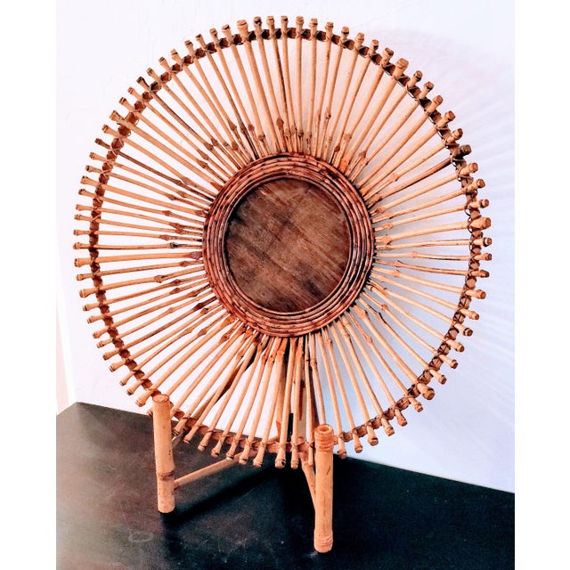Mid-Century Modern Pencil Reed Bamboo Bowl Centerpiece For Sale - Image 10 of 11