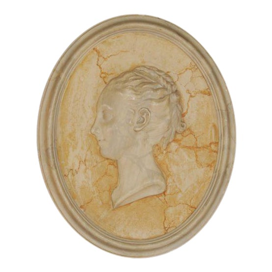 Vintage English Plaster Bust Relief - Image 1 of 4