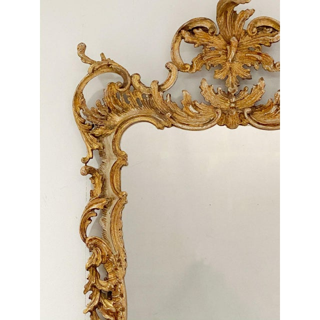 Italian Vintage Italian Gilt and Painted Mirror For Sale - Image 3 of 7