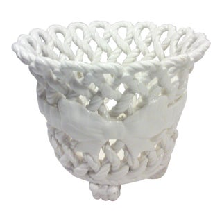 Spanish Blanc De Chine Ceramic Planter