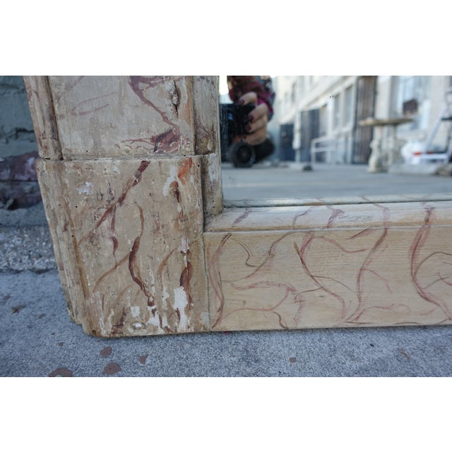 Faux Marble Painted Mirror For Sale - Image 4 of 6