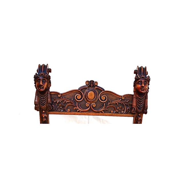 French Late 19th Century Blue & Brown Throne For Sale - Image 3 of 4