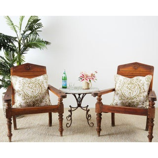 Vintage Mid Century British Colonial Teak Chairs- a Pair Preview