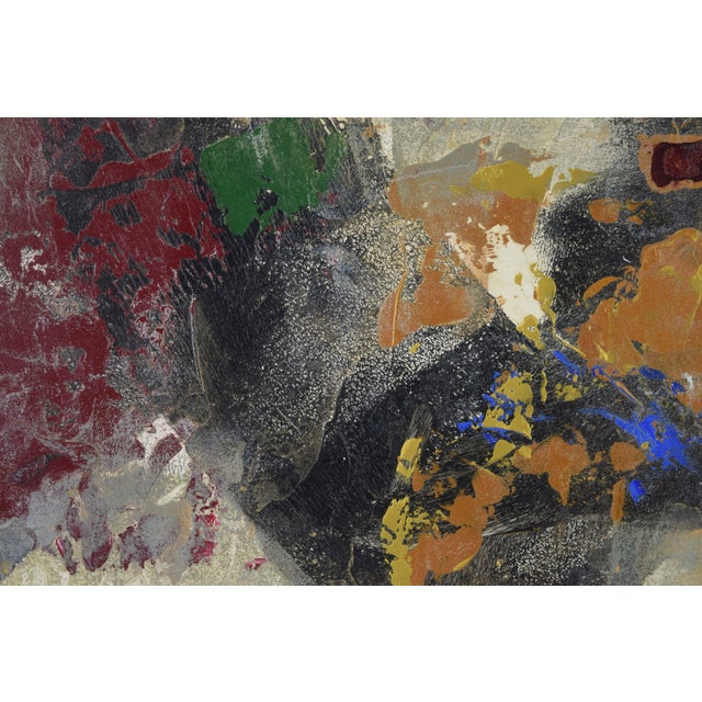 Modernist Abstract Forms Oil Painting #2 by Canadian Artist Patrice Beckerich For Sale In Chicago - Image 6 of 9