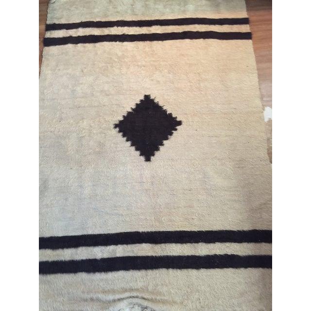 Navajo Style Wool Rug - 4′8″ × 6′9″ - Image 3 of 6