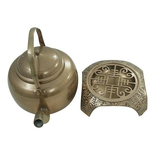 Brass Kettle and Warming Plate - Image 6 of 7