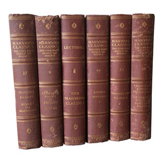 Antique Harvard Classics Books - Set of 6