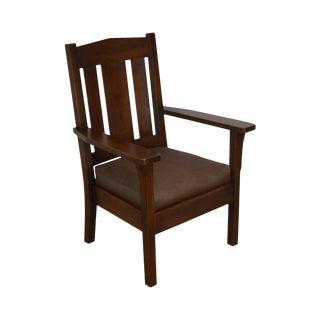 Mission Oak Antique Armchair For Sale
