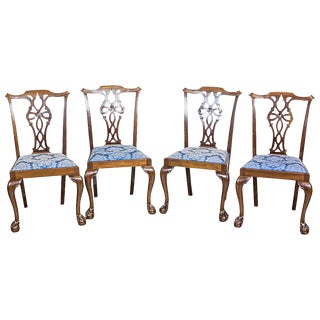 English Chairs in the Chippendale Type, circa the 1st Half of the 20th Century For Sale