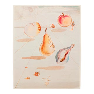 1955 Dali, Fruits Original Period Lithograph From From the Mrs. Albert D. Lasker Collection For Sale